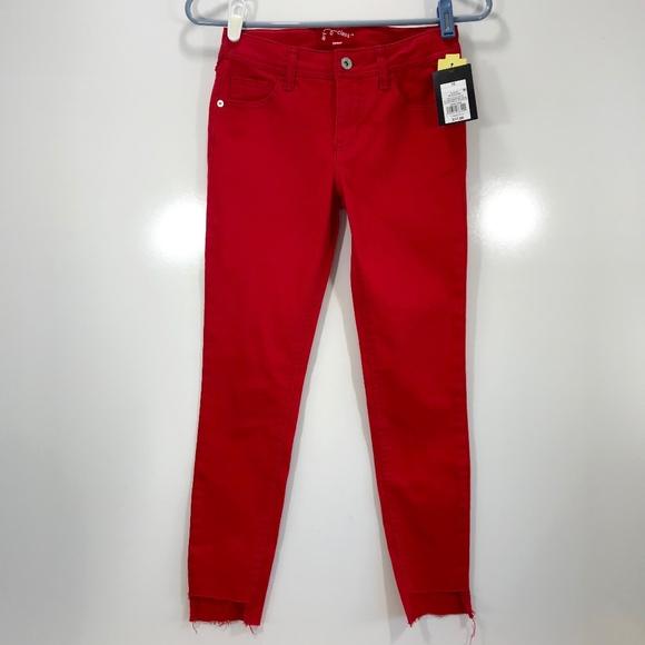 d861d5c00e2a art class Bottoms   Girls Size 10 Red Skinny Jeans Step Hem   Poshmark